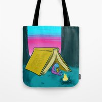 reading Tote Bags featuring Reading by David Kantrowitz