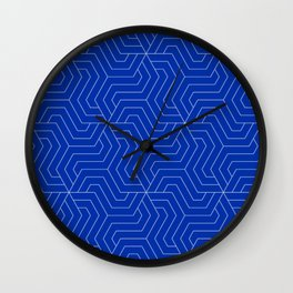 International Klein Blue - blue - Modern Vector Seamless Pattern Wall Clock