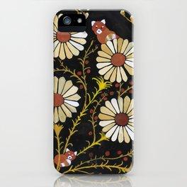 red panda daisies iPhone Case