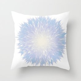Mandala Flower || Blue Throw Pillow