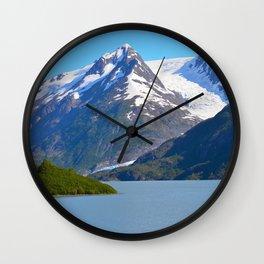 Portage Glacier - Summer Wall Clock