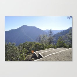 Great Smoky Mountains Chimney Tops Observation Deck Canvas Print