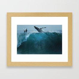 Where the sky meets the ocean Framed Art Print