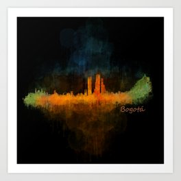 Bogota City Skyline Hq V4 Art Print