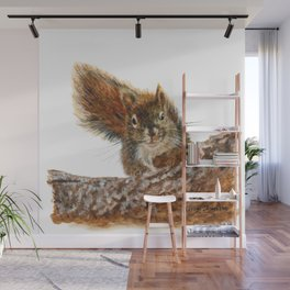 Cheeky the Red Squirrel by Teresa Thompson Wall Mural