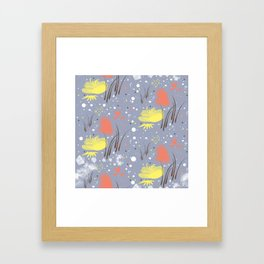 abstract flowy Framed Art Print