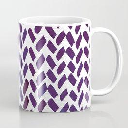 Cute watercolor knitting pattern - puple Coffee Mug