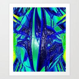 The Paint Of Life Bubblegum Abstract II Art Print