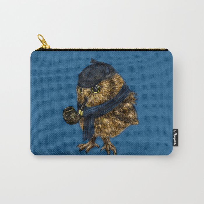 Sherlock // owl Carry-All Pouch