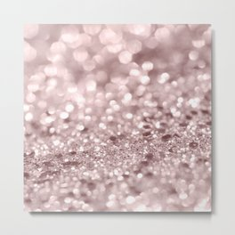 Sparkling Rose Gold Blush Glitter #1 #shiny #decor #art #society6 Metal Print