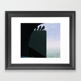 Into The Question Itself Framed Art Print