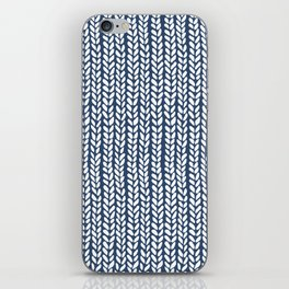 Knit Wave Navy iPhone Skin