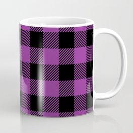 Buffalo Plaid - Purple & Black Coffee Mug