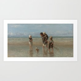 Children of the Sea, Jozef Israëls (1872) Art Print