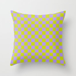 Lime & Lavender Throw Pillow