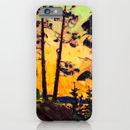Tom Thomson - Pine Trees at Sunset  - Canada, Canadian Oil Painting - Group of Seven iPhone Case
