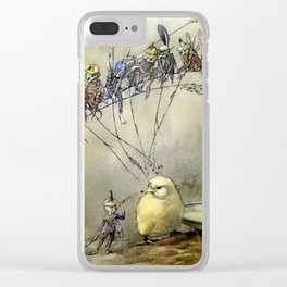 """Bother the Gnat"" by Duncan Carse Clear iPhone Case"