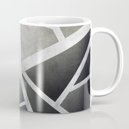 Textured Metal Geometric Gradient With Silver Coffee Mug