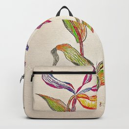 painted orchid Backpack