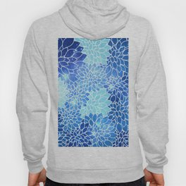 Space Dahlias Sky Blue Hoody