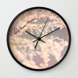 Delicate Flowers Wall Clock
