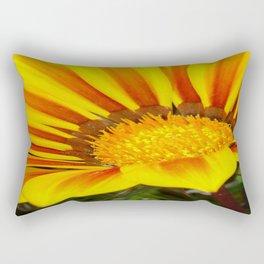Orange and Rust Color Gazania Montezuma Macro  Rectangular Pillow