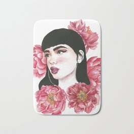 In love with peonies Bath Mat