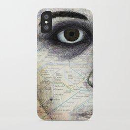 Map Portrait iPhone Case