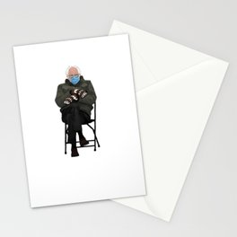 Bernie Sanders at the Biden Inauguration 2021, Bernie Sanders in Mittens, Joe Biden, Bernie Sanders Gift Stationery Cards