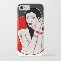 asia iPhone & iPod Cases featuring girl asia by Egudin