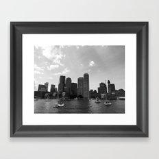 Boston Skyline Framed Art Print