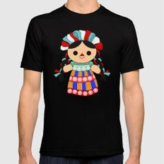 Maria 6 (Mexican Doll) Mens Fitted Tee Black SMALL