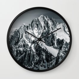 Mountain Top with Snow Landsape Wall Clock