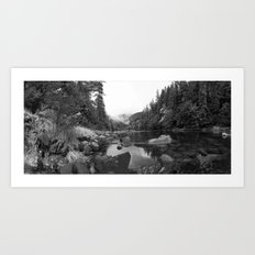 Panaramic Pond Art Print