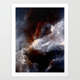 Dust, hydrogen, helium and other ionized gases Art Print