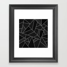 Black Stone Framed Art Print