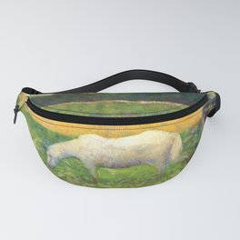 """Georges Seurat """"Paysage avec cheval (Landscape with a white horse)"""" Fanny Pack"""