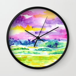 Costa Rican Landscape IV Wall Clock