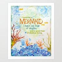 The Depths Art Print