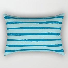 Beach Sparkle Nautical Stripe Rectangular Pillow