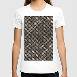Woven texture T-shirt