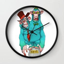 Two-headed ape Wall Clock