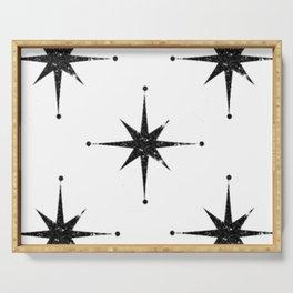 black 8 point stars Serving Tray
