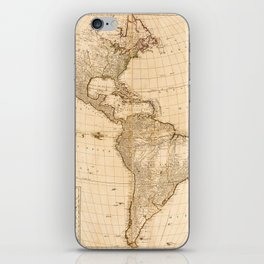 Map of North & South America (1786) iPhone Skin
