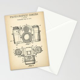 Photographic Camera Vintage Patent Stationery Cards