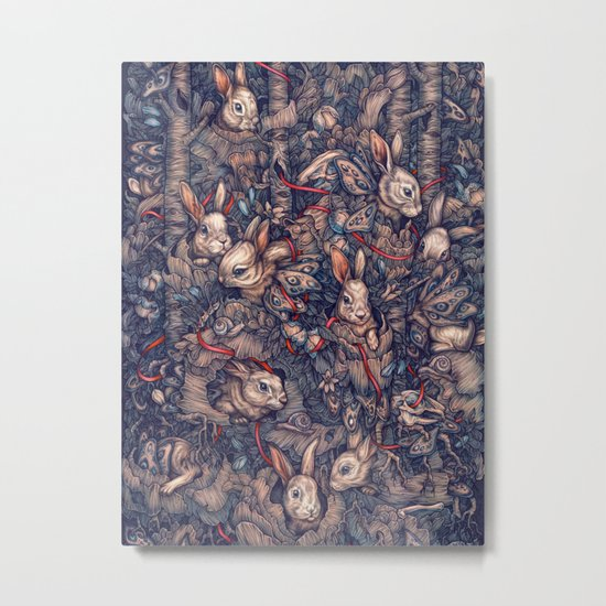Bunnerflies Metal Print