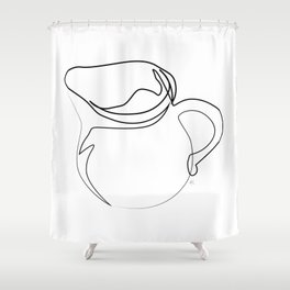 """ Kitchen Collection "" - Pitcher Shower Curtain"