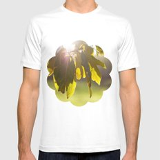 leaves at sunset MEDIUM White Mens Fitted Tee