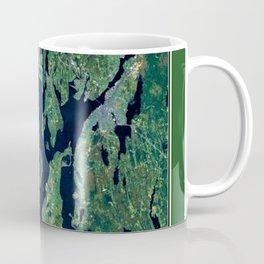 Map of Rhode Island - Ocean State - Narragansett Bay Coffee Mug