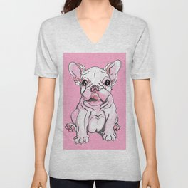 Frenchie Pup Unisex V-Neck